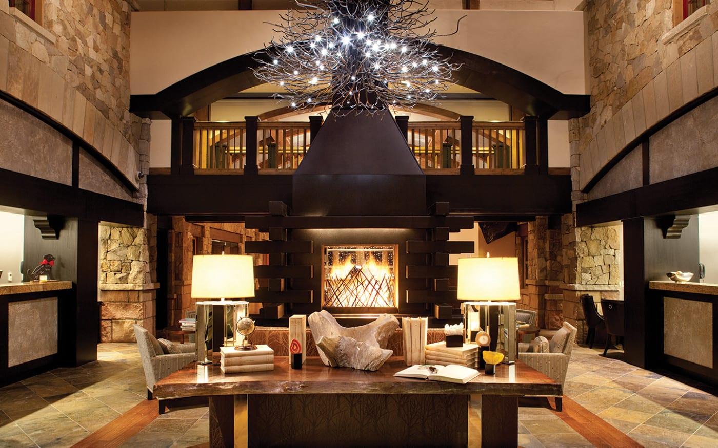 Best Hotels Vail Sebastian Fireplace Lobby