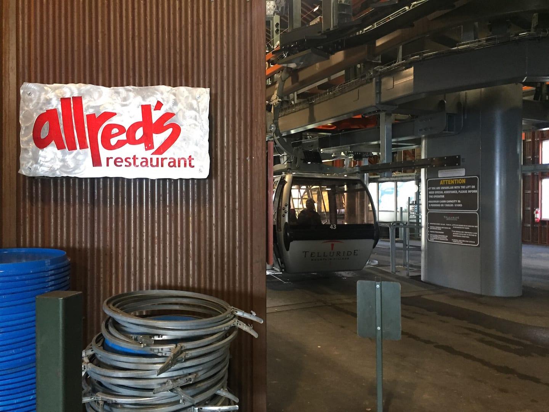 Allred's Restaurant Gondola Telluride Colorado