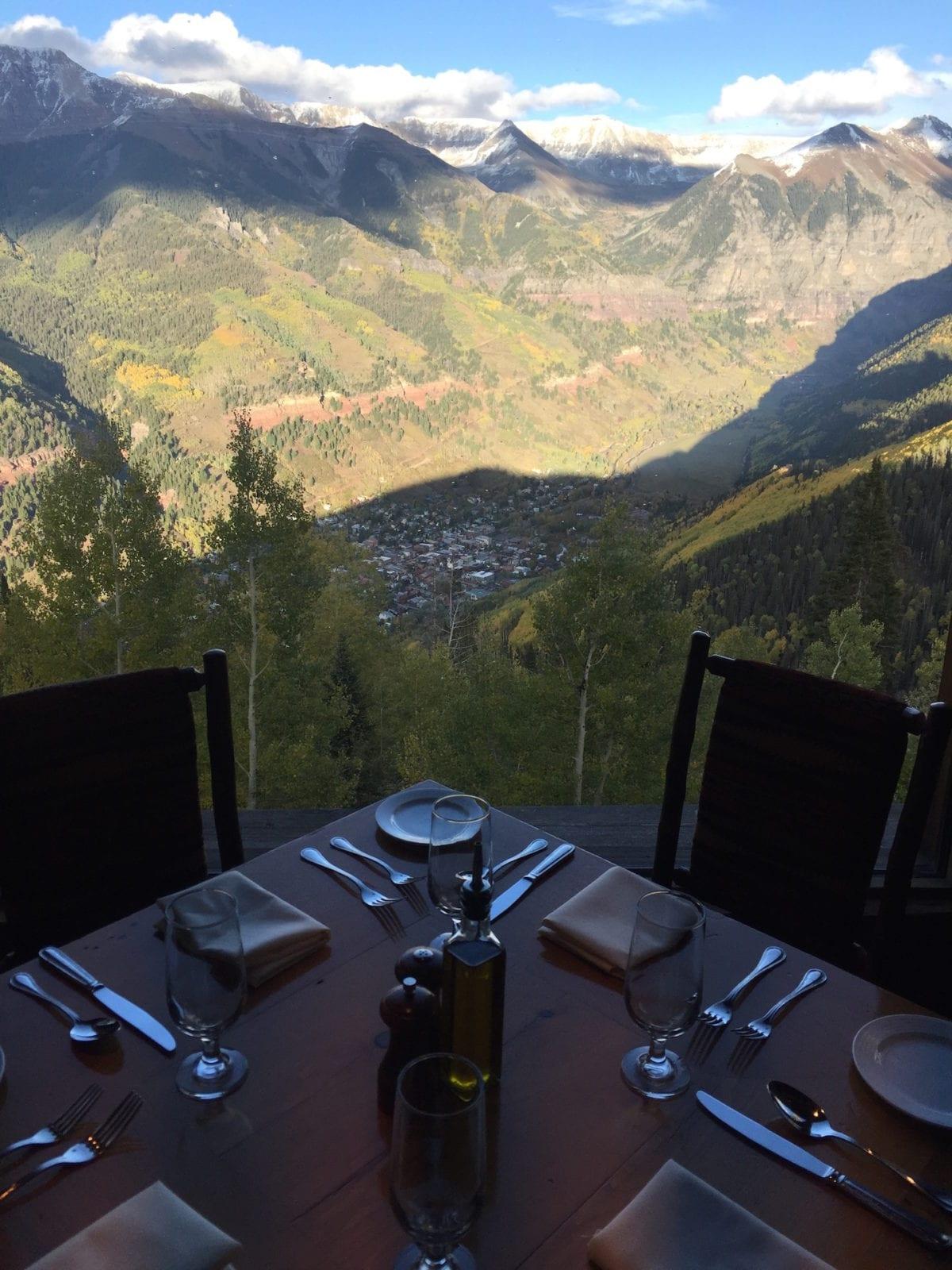 Allred's Restaurant Telluride Aerial View