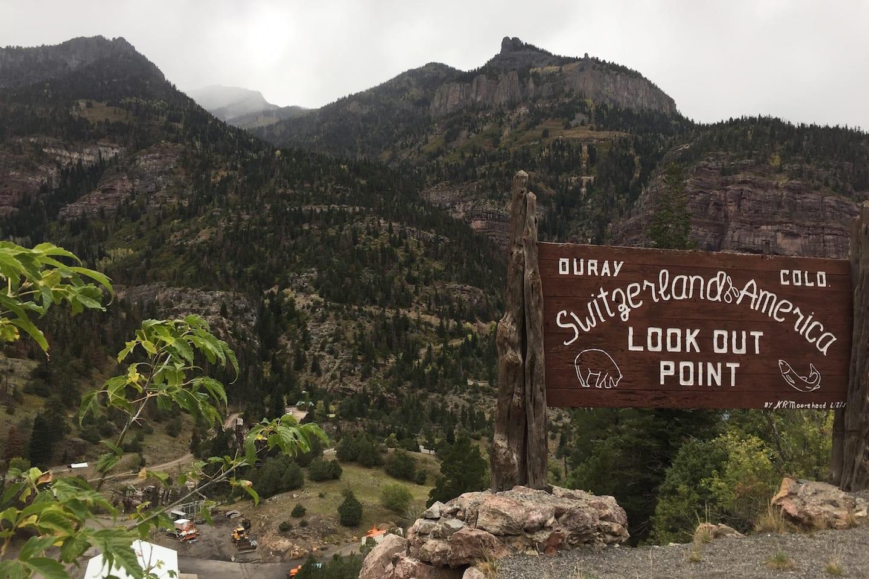 Million Dollar Highway Ouray Colorado Switzerland of America Sign