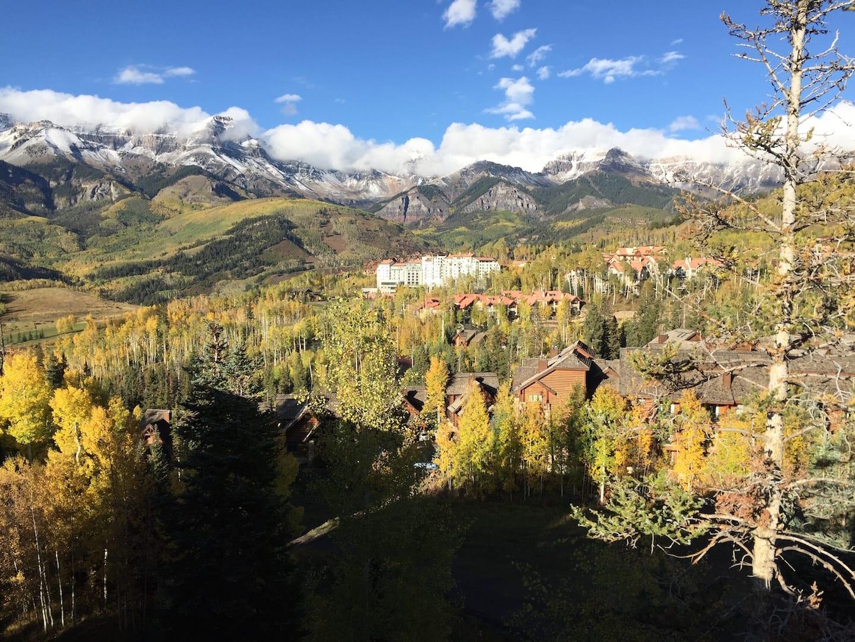 Telluride Colorado Fall Colors Aerial