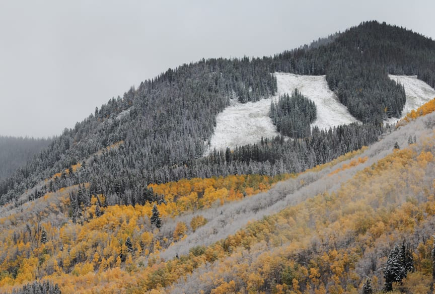 Beaver Creek Ski Resort Slopes Autumn Snow
