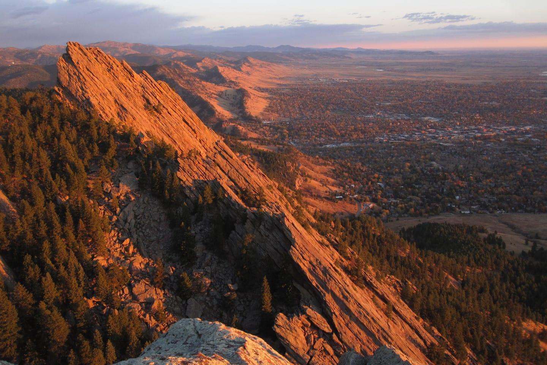 Boulder Date Idea Flatiron Hike Aerial View