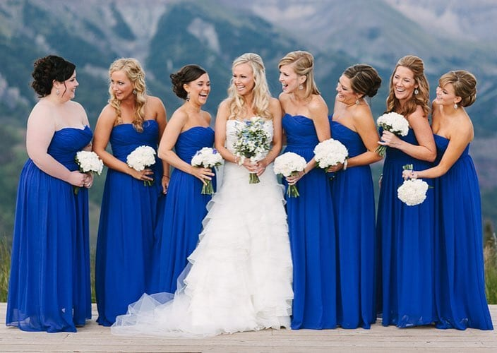 Colorado Wedding Venue Bridesmaids Telluride Overlook