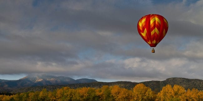 Moving to Colorado Hot Air Balloon Chatfield Reservoir