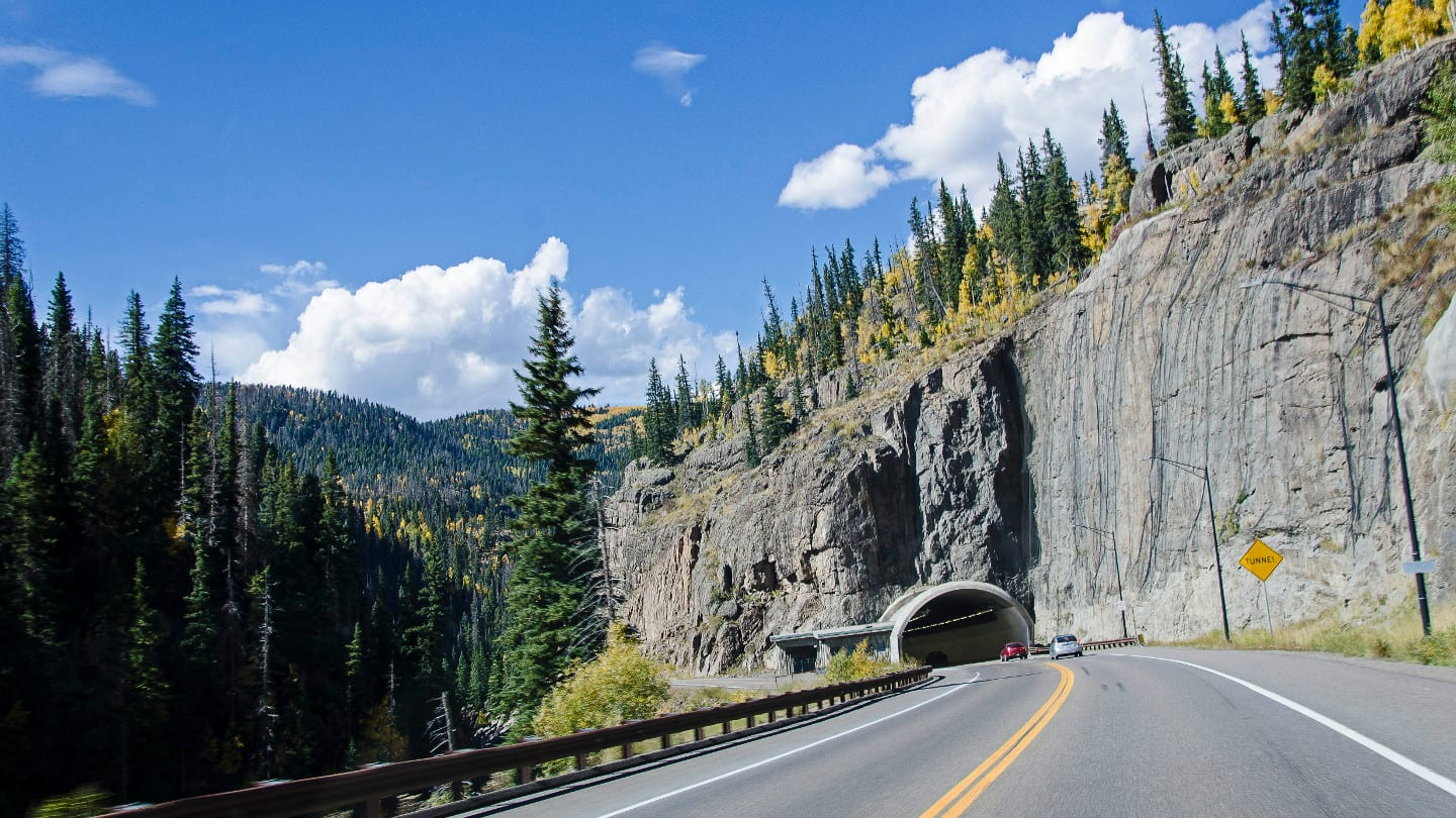 Move to Colorado Tunnel Highway 160 Scenic Drive