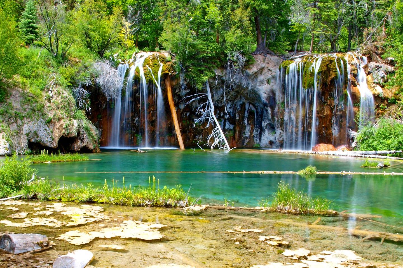 Natural Wonder Hanging Lake Waterfall Colorado