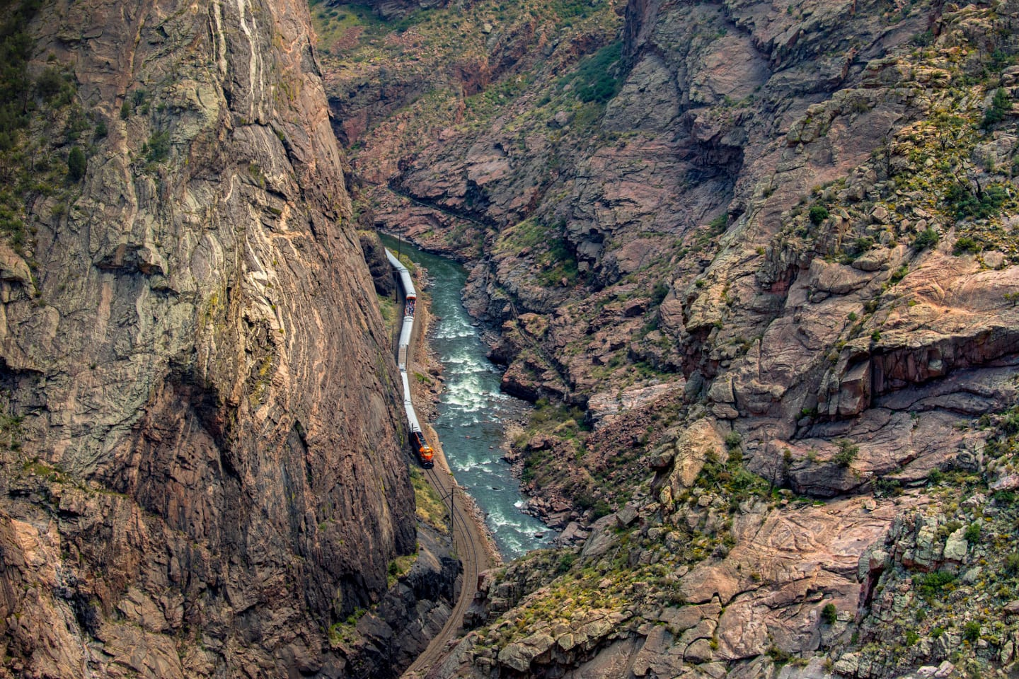 Natural Wonder Royal Gorge Canyon Train Colorado