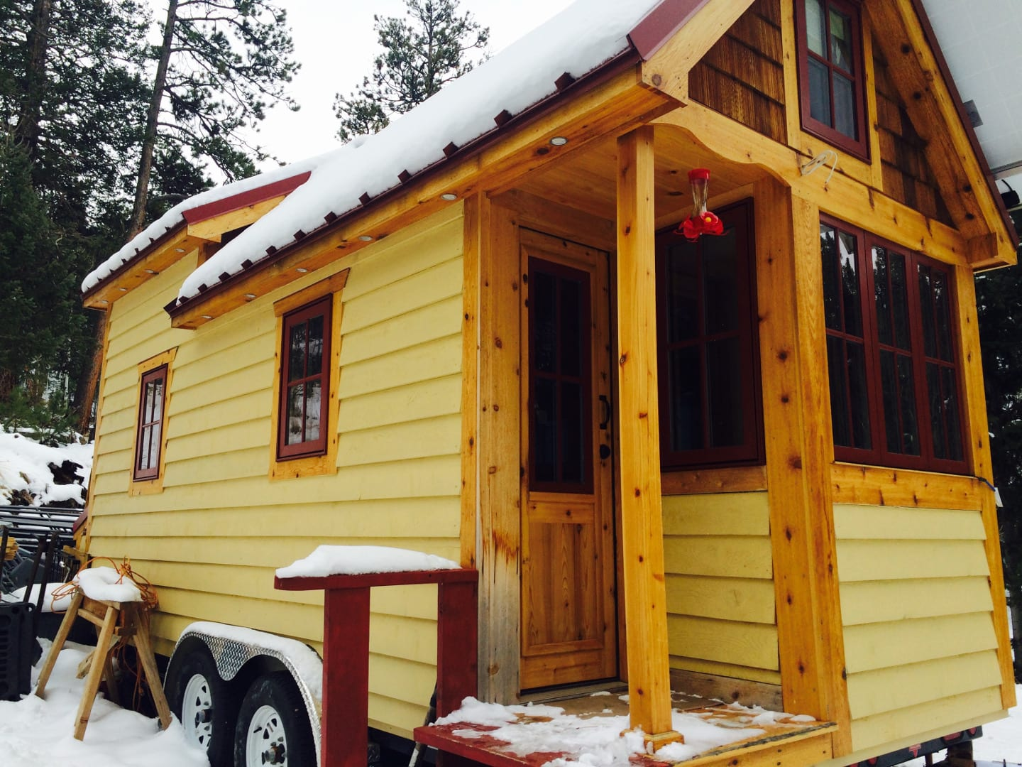 Tiny House Living Colorado Winter