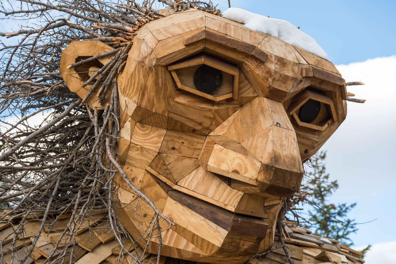 Breckenridge Troll Art Sculpture Face