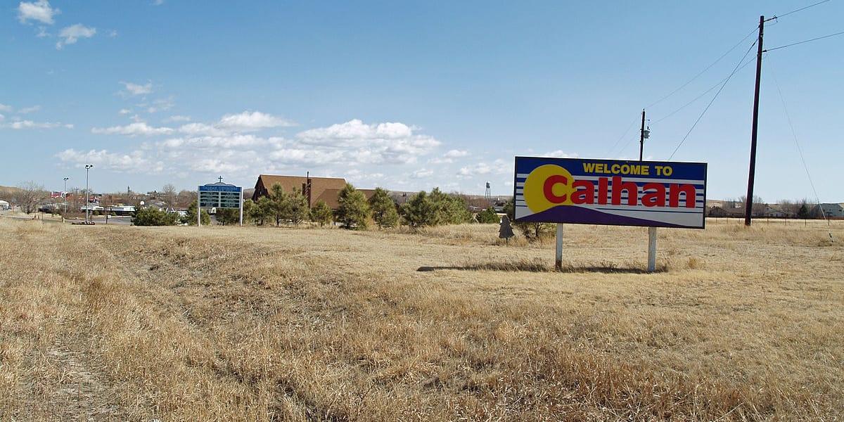 Calhan Colorado Welcome Sign