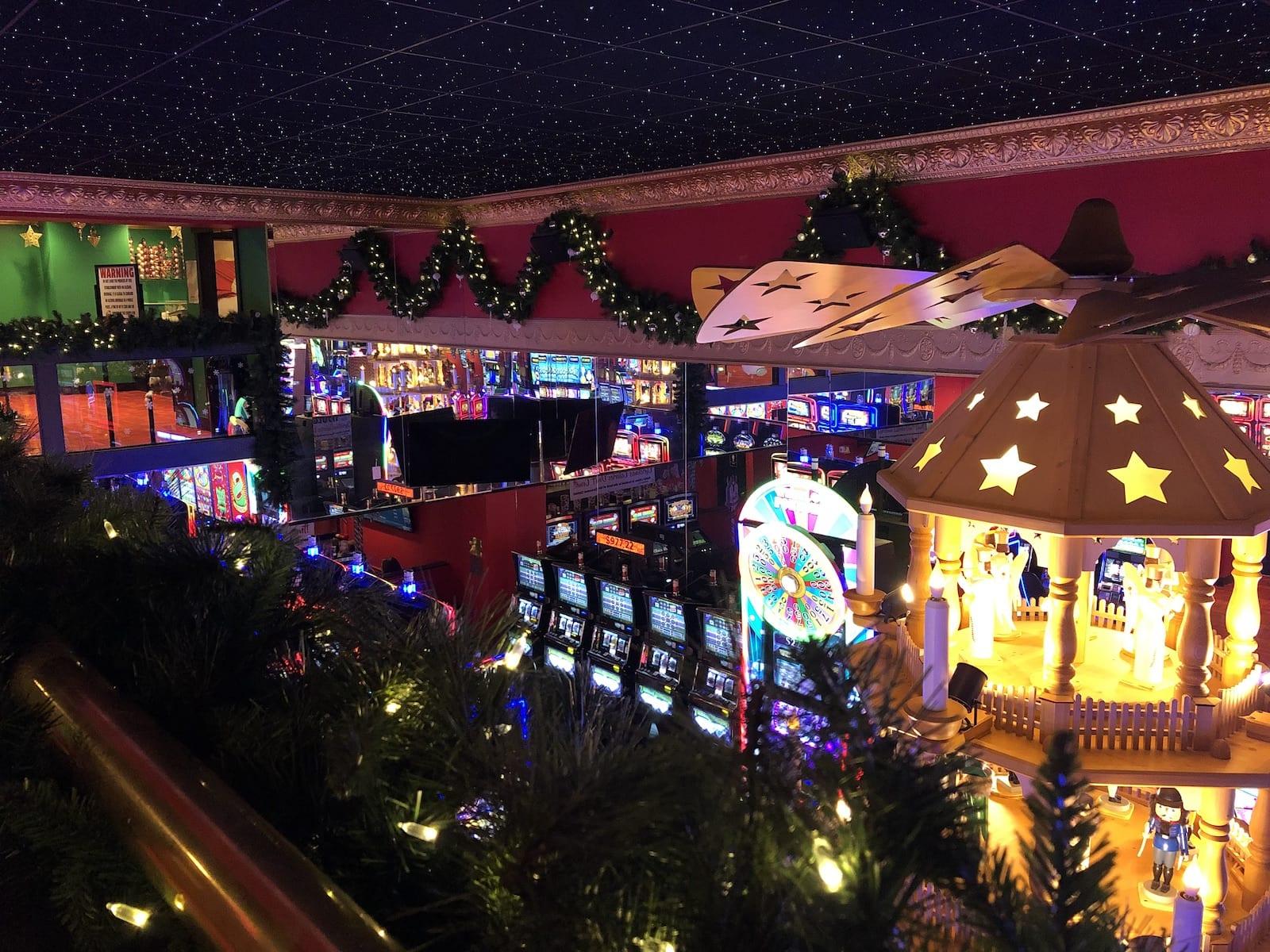 Christmas Inn Casino Slots and Holiday Lights Cripple Creek