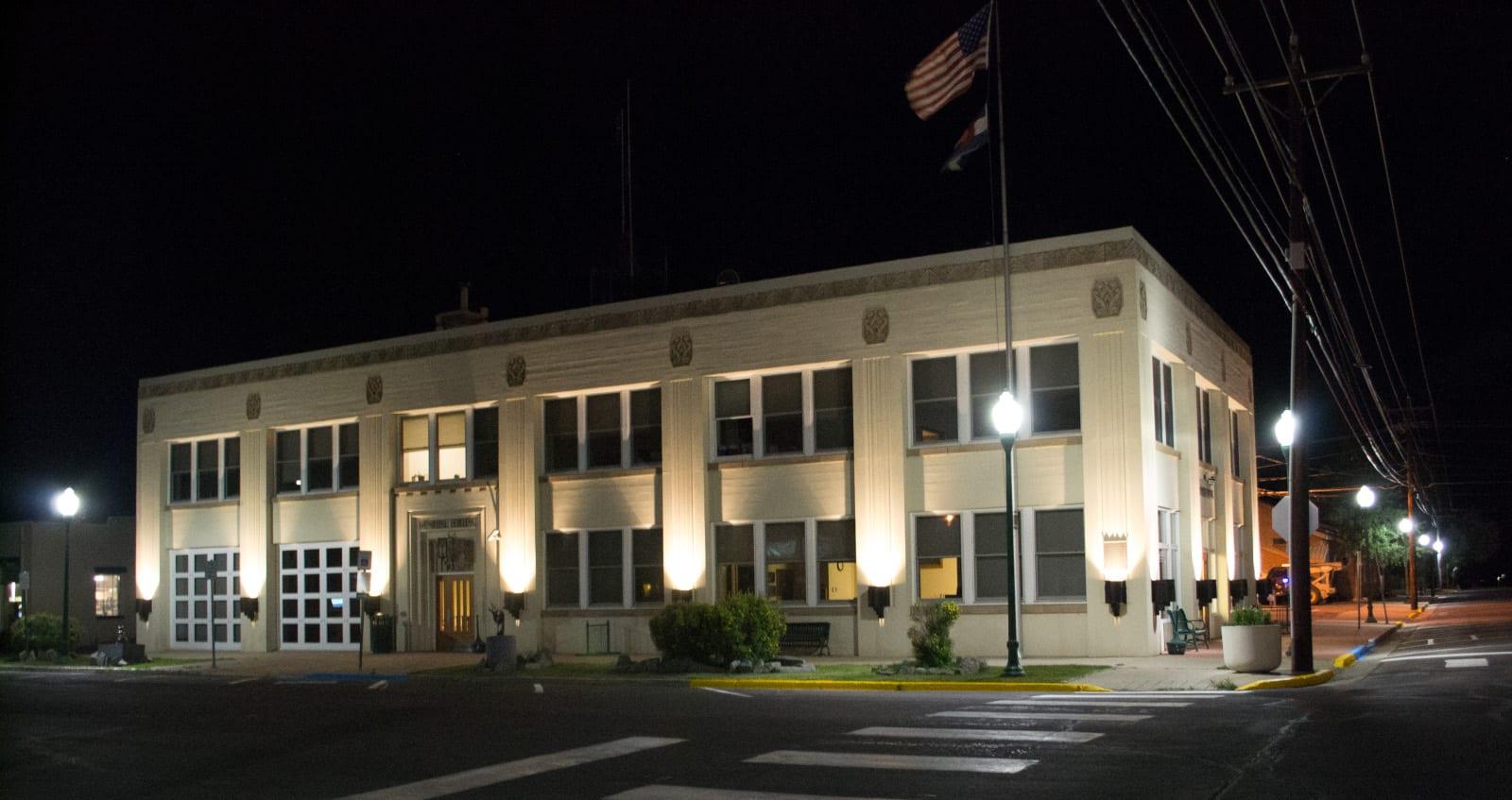 Gunnison CO Municipal Building Exterior Night