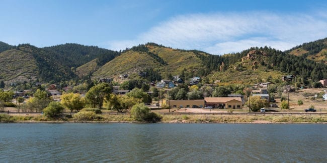 Palmer Lake Colorado Town View