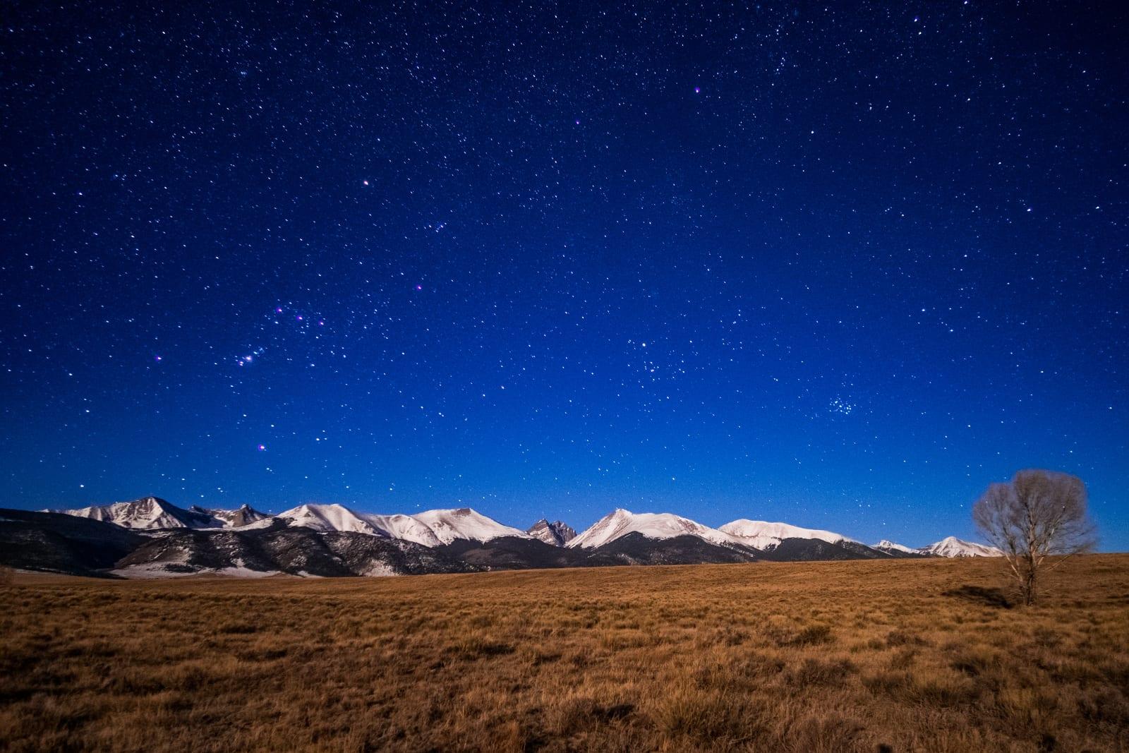 Stargazing Moonlight Sangre De Cristo Mountains Colorado