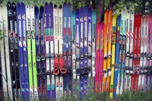 Sun Valley Idaho Ski Fence