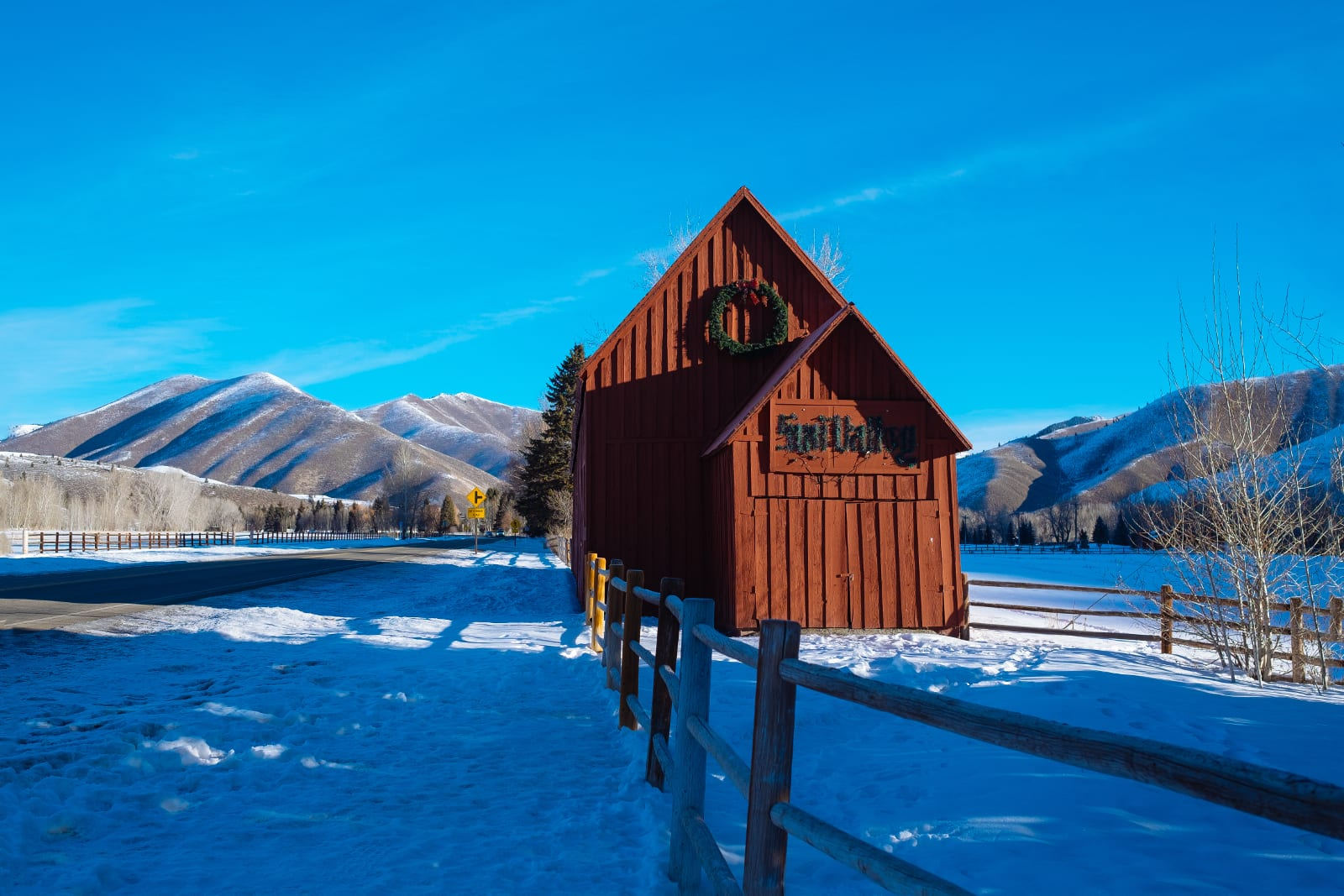 Sun Valley Idaho Mountains Winter Mailbox