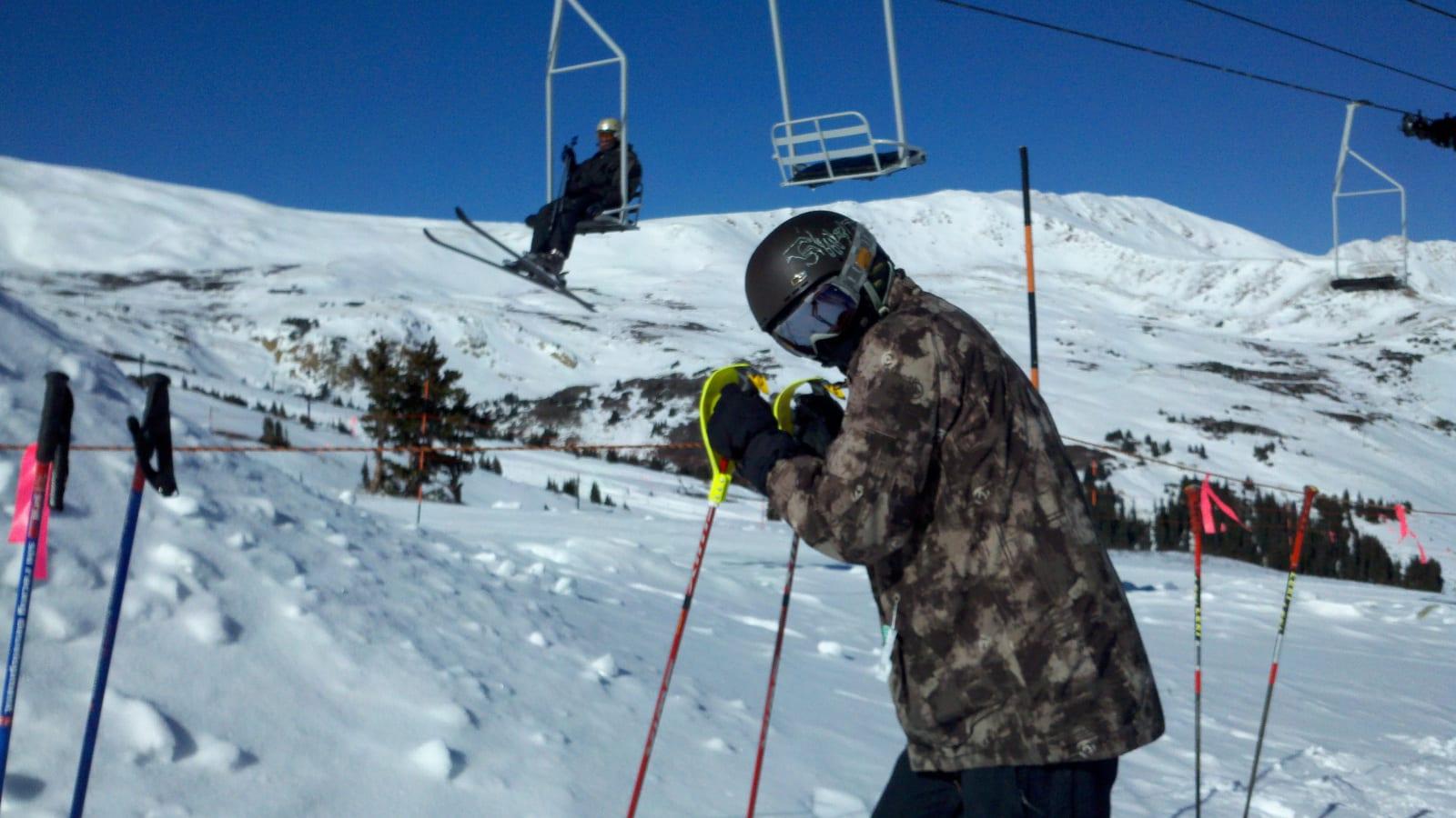 Loveland Ski Area Snowboarder Ski Poles