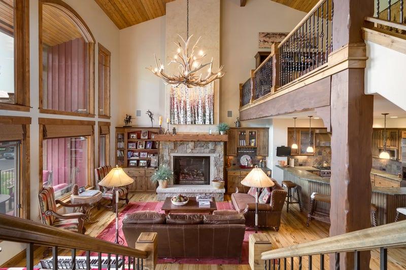 Torian Plum Resort Vacation Rental Living Room Loft