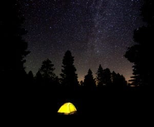 Camping Tent Night Stars Howard Colorado