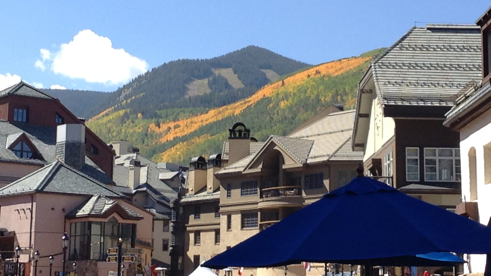 Beaver Creek Village Ski Slopes Autumn CO