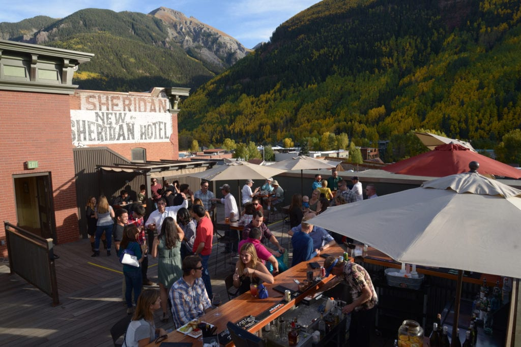 Chop House Restaurant at New Sheridan Telluride Rooftop Bar
