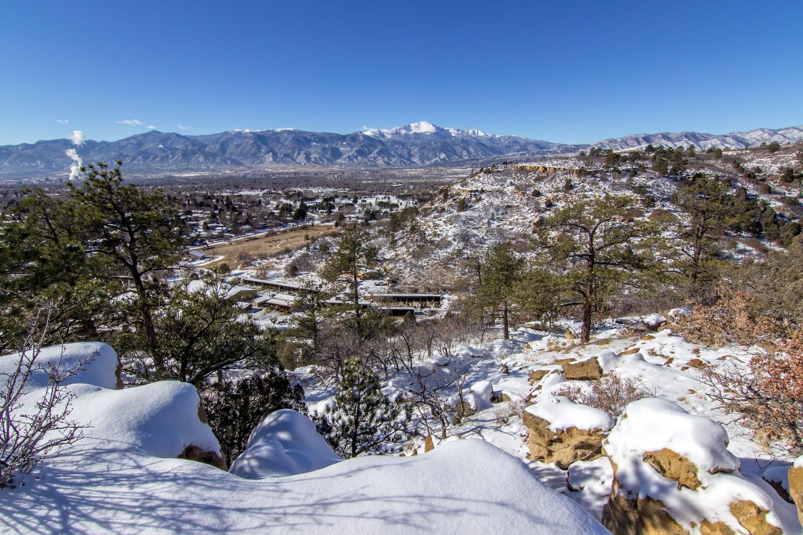 Colorado Springs Neighborhood Palmer Park Snow day