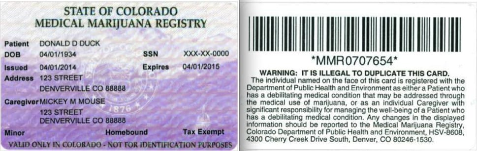 Medical Marijuana Registry Card Colorado