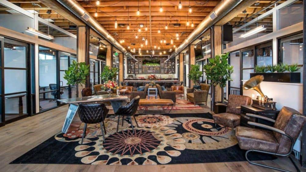 Coworking Shift Workspaces Denver Lounge Reception Area Common Area Denver