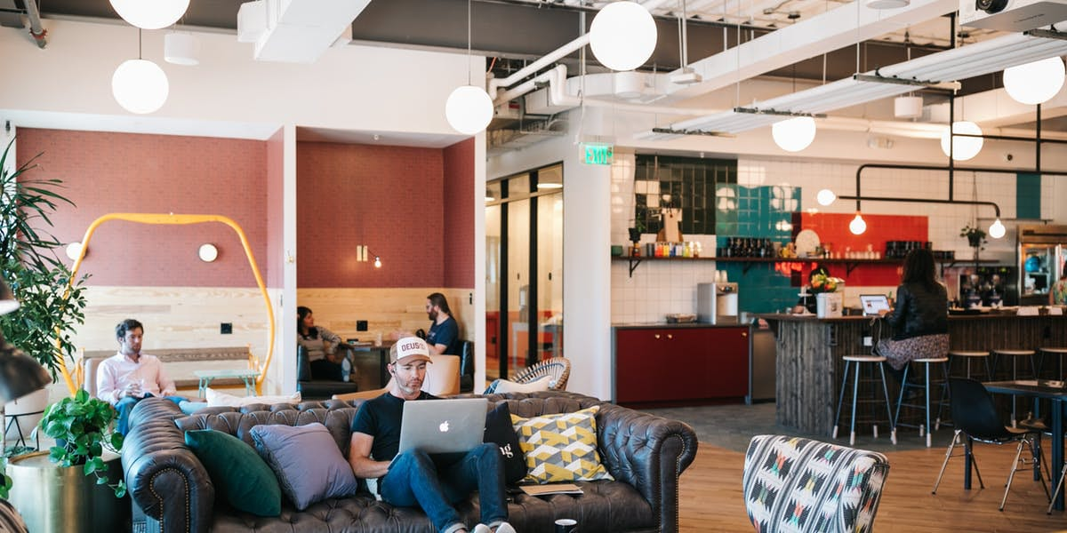 Coworking WeWork Denver LoHi Common Area