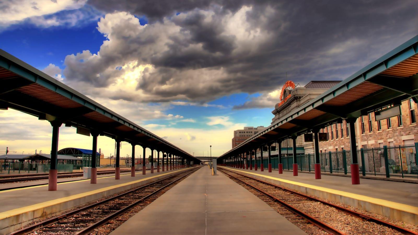 Travel Destination Denver Union Station Railroad Train Tracks