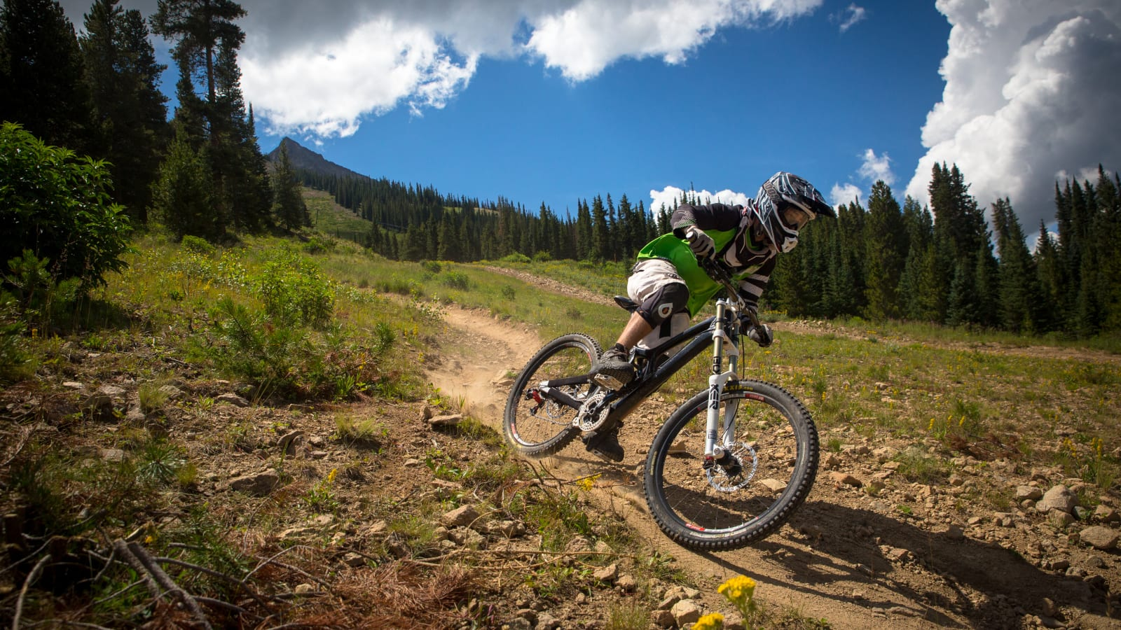 Mountain Biking Downhill Crested Butte Resort Trail