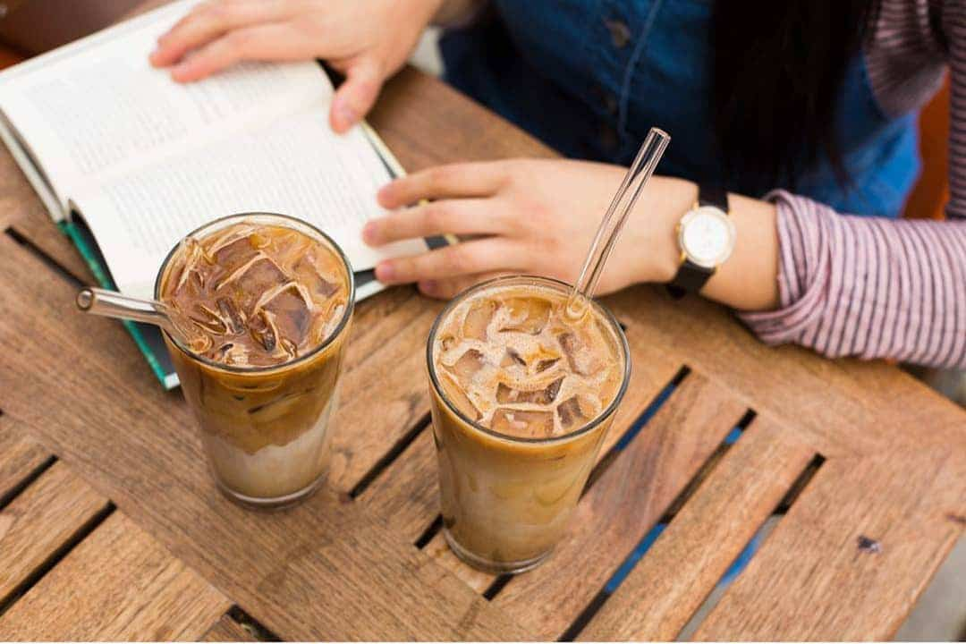 Hummingbird Glass Straws Iced Coffee Straw
