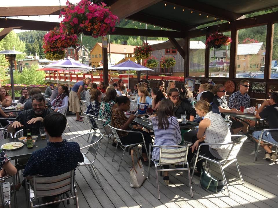 Minturn Saloon CO Riverside Patio Summer