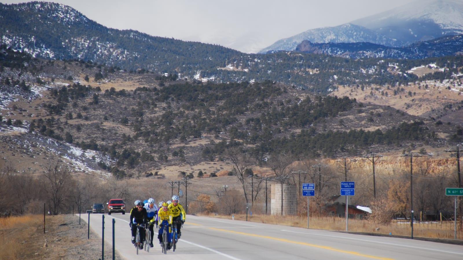 Mountain Biking Bike Group Lyons Colorado Ute Highway 66