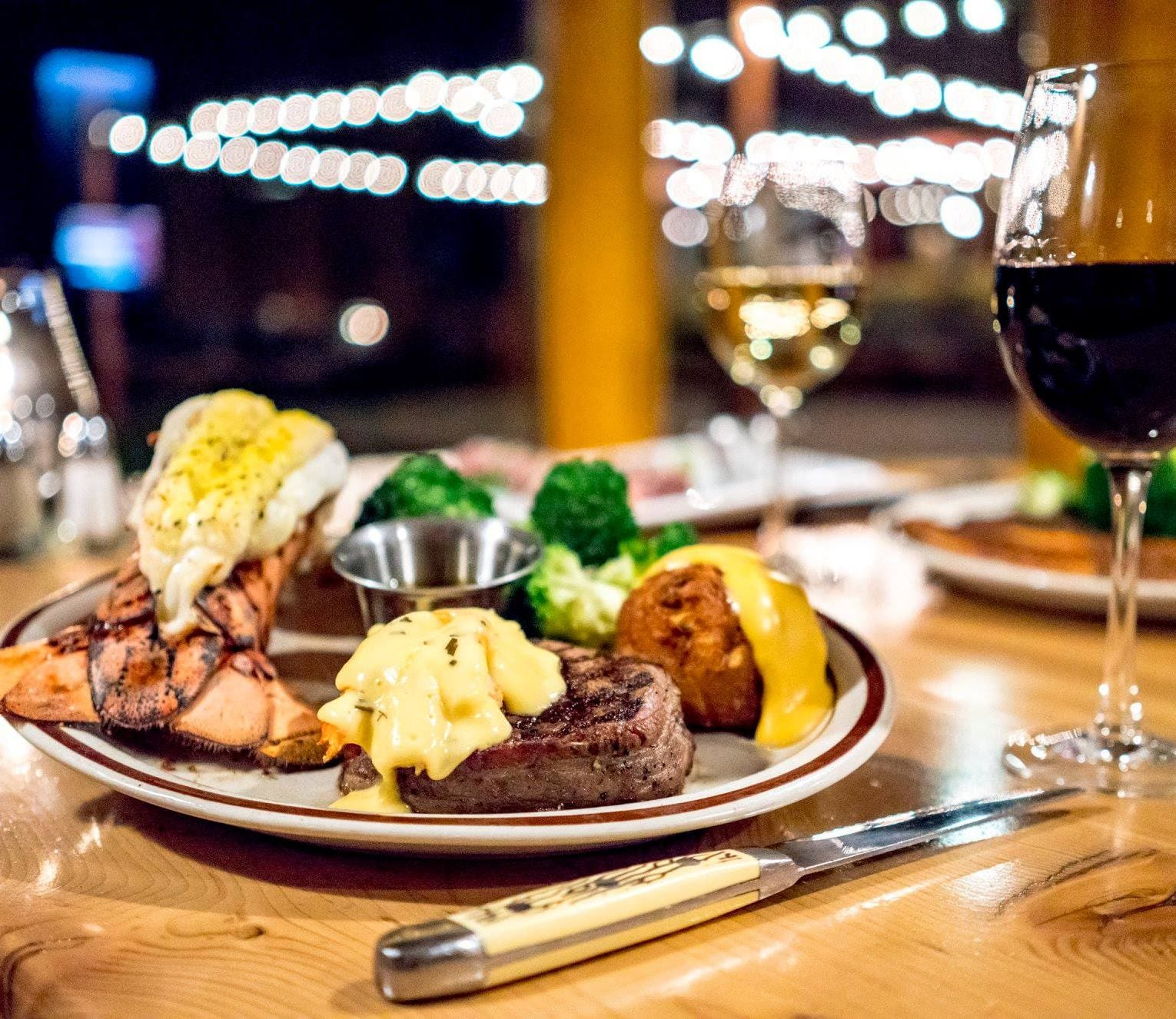 Ore House Pine Grove Steamboat Springs Surf and Turf Dinner