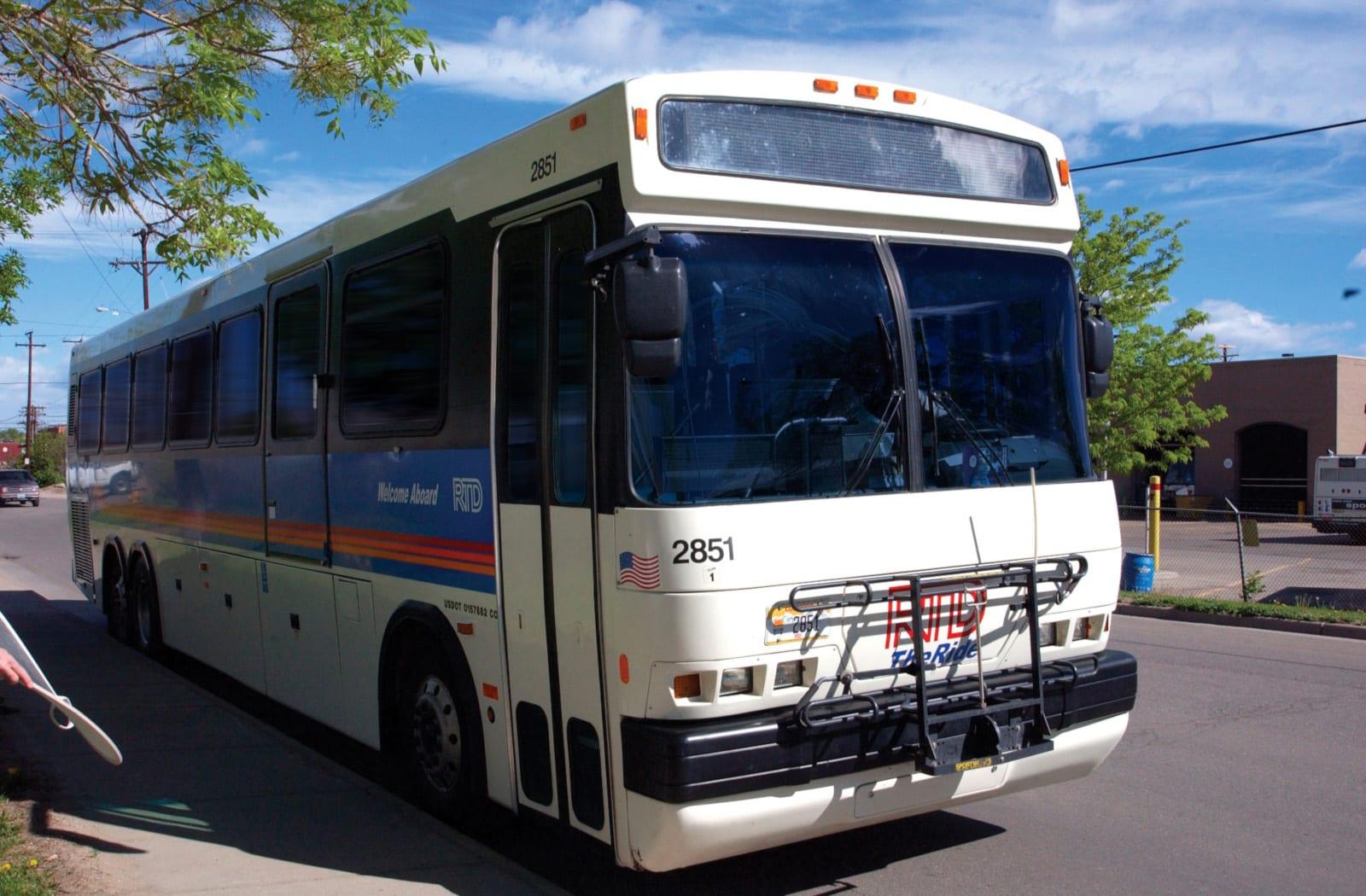 RTD Skyride Bus Denver