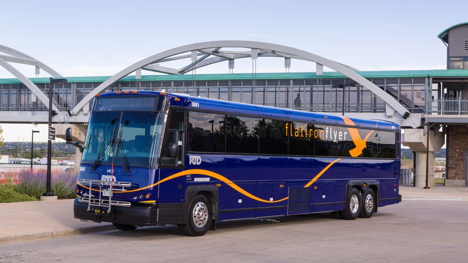 RTD Denver Flatiron Flyer Bus