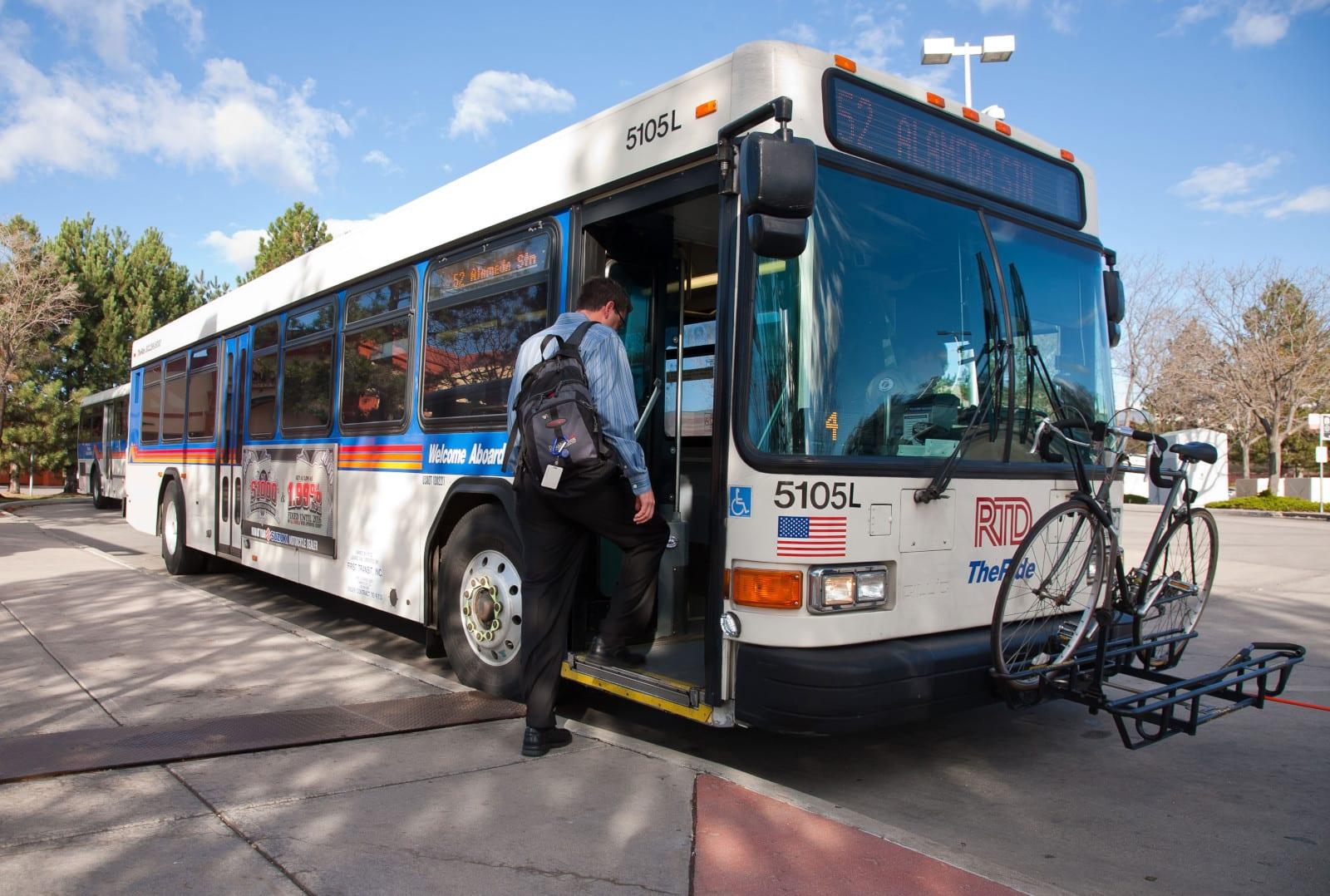 RTD Denver Passenger Boarding Bus