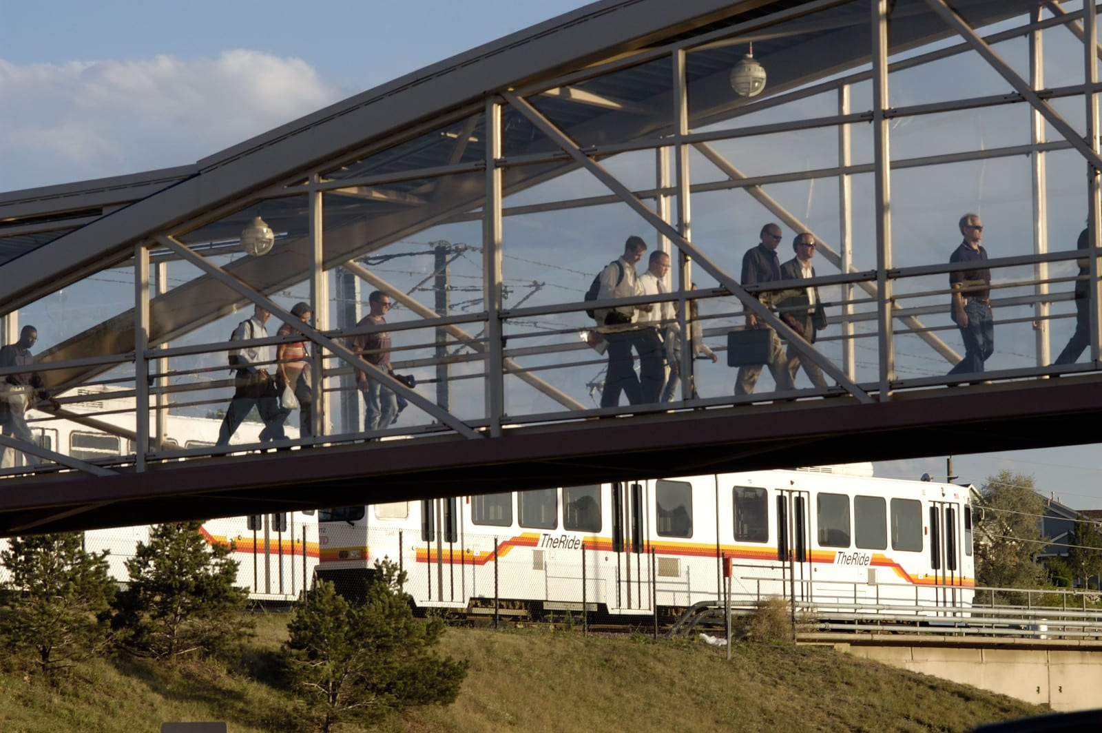 RTD Train Mineral Light Rail Station Littleton CO
