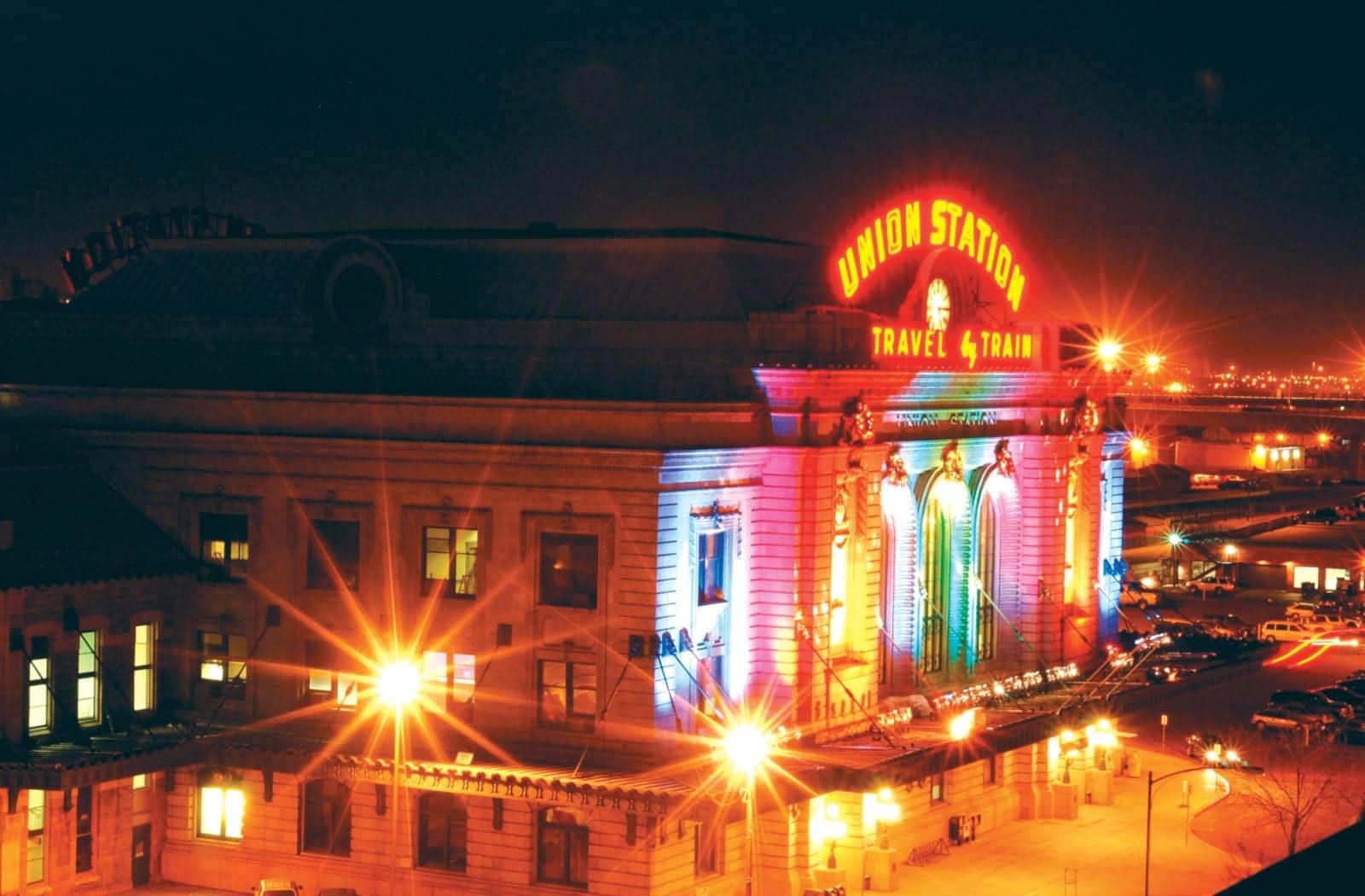 RTD Denver Union Station Night Lights