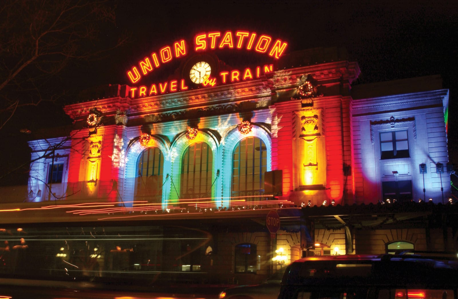 Denver Union Station Night Lights