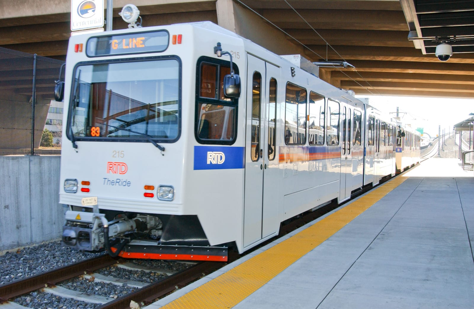 RTD Train G Line Denver At Station