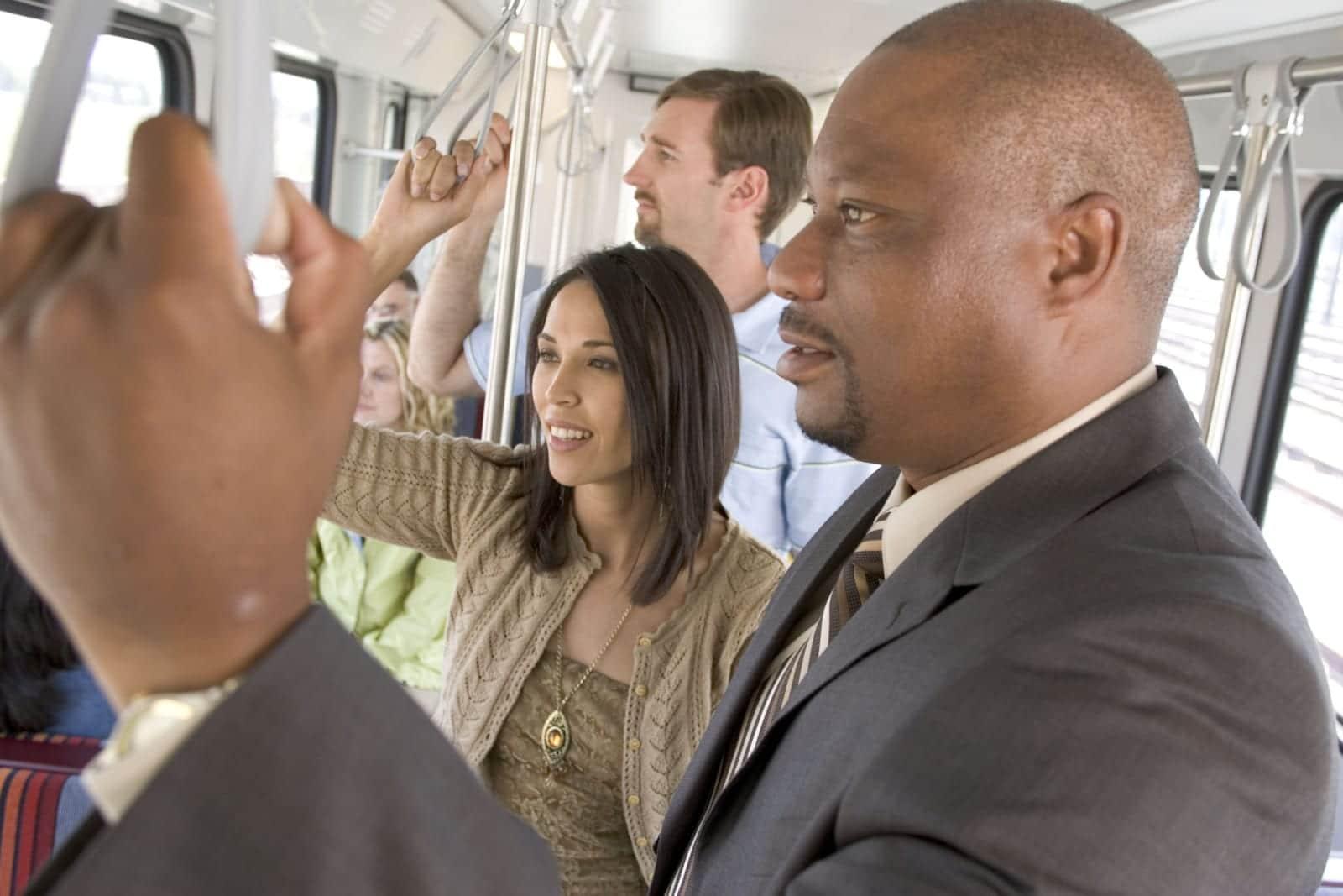 RTD Train Light Rail Passengers On-Board