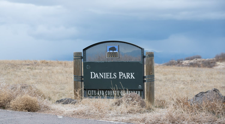 Sedalia CO Daniel's Park Welcome Sign