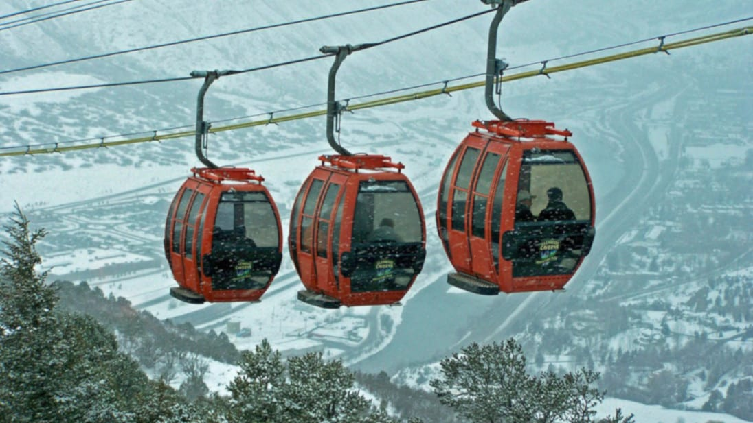 Colorado Winter Road Trip Glenwood Caverns Aerial Tram