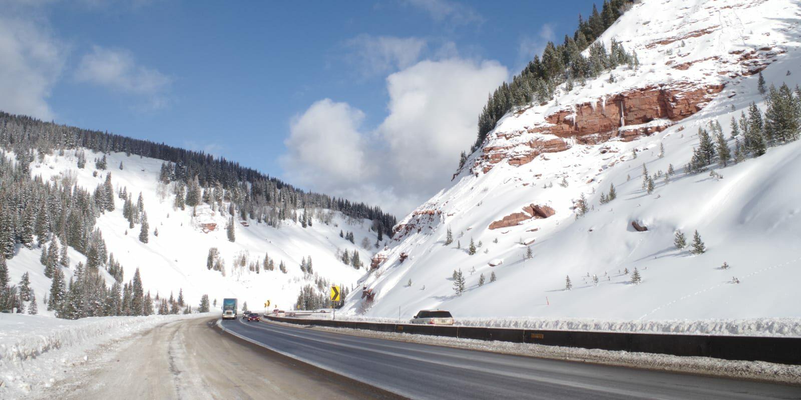Colorado Winter Road Trip Highway Snow