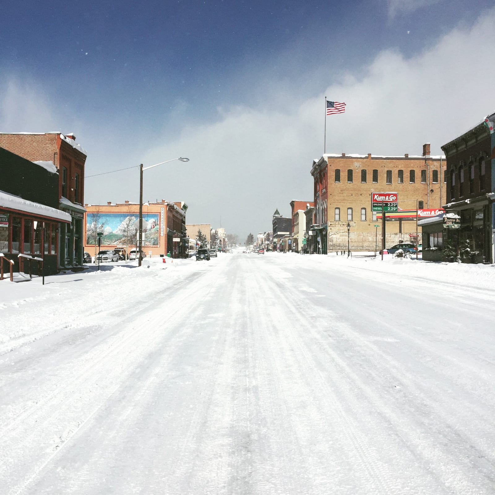 Winter Road Trip Front Street Leadville Colorado
