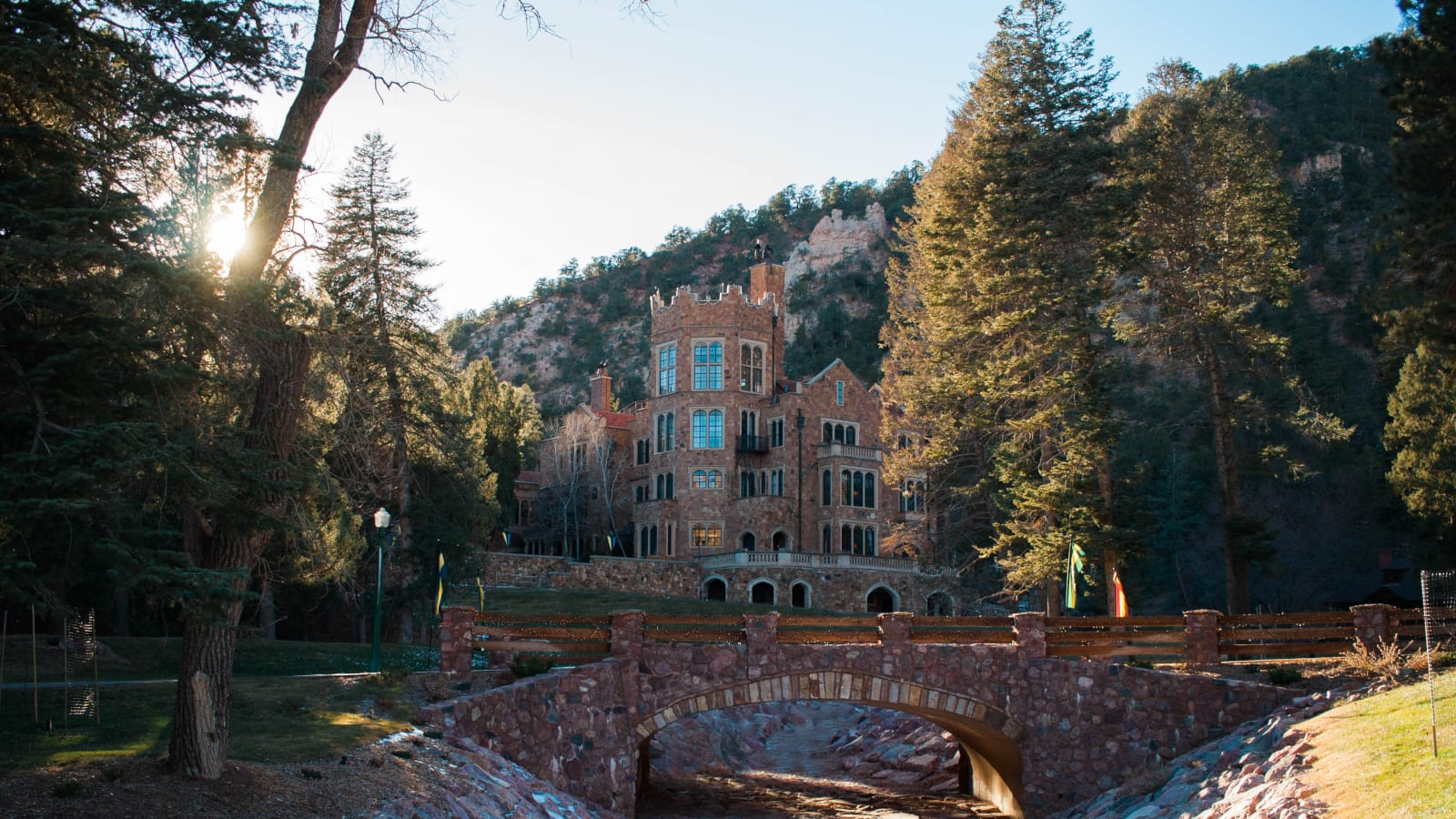 Colorado Springs Winter Road Trip Glen Eyrie Castle
