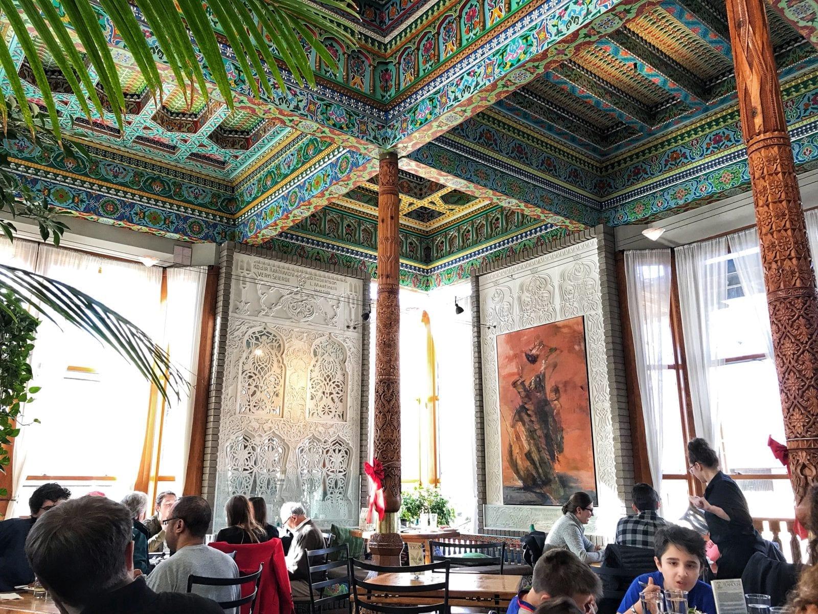 image of dining inside Boulder Dushanbe Teahouse